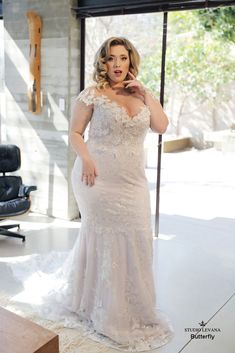 Plus size wedding gowns- Curvy Babe & Wedding gowns- Studio Levana The post Plus size wedding gowns- Curvy Babe Classic Wedding Gowns, How To Dress For A Wedding, Plus Size Wedding Gowns, Plus Size Gowns, Dress Plus Size, Couture Wedding Gowns, Plus Size Maxi Dresses, Dresses Uk, Evening Dresses