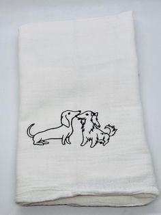 Available at link on bio page to my Etsy store Christmas Kitchen Towels, Kitchen Hand Towels, Custom Makeup Bags, Dachshund Gifts, Dachshund Quotes, Personalized Makeup Bags, Flamingo Gifts, Silhouette, Beauty