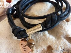 Valentines Day Special Offer For Men-Tribal Cord Wristwrap. Inspirational handmade gemstone jewellery by Earth Jewel Creations Australia