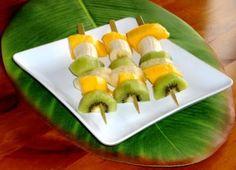 Brochette de fruits exotiques