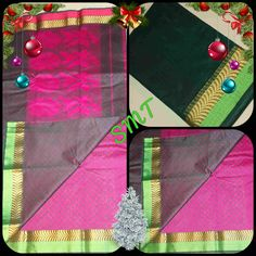 🎄Fabric - Cora cotton sarees  🎄Blouse - Jacquard blouse 🎄Pallu - Attractive Flower Design with Contrast Colour 🎄Special Pleet same as blouse for this festival season