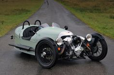 Morgan Three Wheeler - Originally British, modern version conceived by a guy in Seattle, S & S engine from Wisconsin. Want.