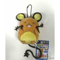 Pokemon 2016 Banpresto UFO Game Catcher Prize My Pokemon Collection Series Movie Version Dedenne Plush Keychain