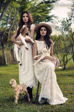 Kelsey Merritt and Janine Gutierrez Vania Romoff Bridal, Kelsey Merritt, Victoria Secret Fashion Show, Woman Crush, Family Portraits, Bridal Style, Female Models, Editorial Fashion, Women Wear