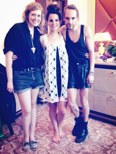 Lana and the designers of Mal-Aimée It was her birthday and she is wearing a dress we especially made for her