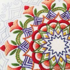 Kaleidoscope Embroidery Design in Silk                                                                                                                                                                                 More