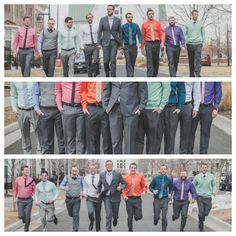 Love these shots of the groom and groomsmen.