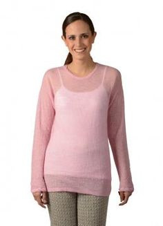 Mae Sweater Simple and comfy, translucent long-sleeve Sweater with a round Neck. Perfect for a casual night out  Composition: 100% Baby Alpaca Brand: Kuna Style #: A10O406P0000