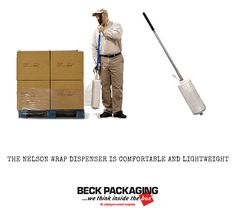 Reduce work-related strain and injury with the Nelson Wrap Dispenser. This dispenser allows your workers to walk forward in upright posture while wrapping skids. Call today to see if the nelson wrap dispenser can provide a solution for your business! 1.800.722.2325 http://www.beckpackaging.com/ #BeckPackaging #BeckSolutions #MachineMatchmakers #StretchWrap