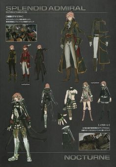 Lightning Returns: Final Fantasy XIII Garbs - Splendid Admiral and Nocturne concept artwork
