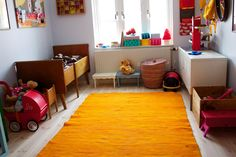 This orange ragrug was given away for free from some moving neighbours. Perfect for Ester's room.