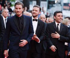 Les acteurs Garrett Hedlund, Oscar Isaac et Justin Timberlake