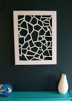 Cut Canvas! Love this from NineRed.Blogspot.Com #DIY #Craft #decor