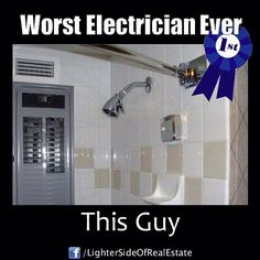 Find very good Jokes, Memes and Quotes on our site. Keep calm and have fun. Funny Pictures, Videos, Jokes & new flash games every day. Funny Photos, Funny Images, Funny Fails, Funny Jokes, Construction Humor, Electrician Humor, You Had One Job, Good Jokes, Tecno