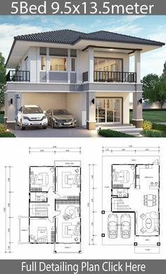 Free Modern House Plans Awesome 5 Free Diy Tiny House Plans to Help You Live the Small – Home Design 2 Storey House Design, Duplex House Plans, Bungalow House Design, House Front Design, Dream House Plans, Modern House Design, House Floor Plans, Two Storey House Plans, Simple House Design