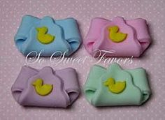 Baby shower edible fondant cupcake toppers  by sweetfavors08, $10.95
