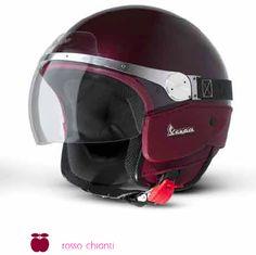 Burgundy Vespa helmet