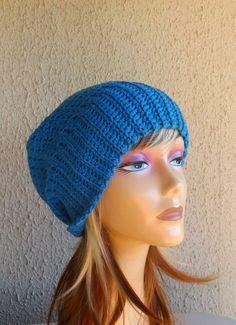 b62a5c891e1 Hand crochet beanie women s cream wool slouchy casual knit au made m new  hats