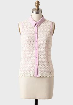 Lovely Lavender Crocheted Blouse at #Ruche @shopruche
