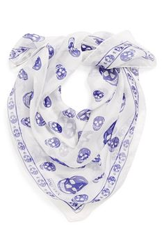 Always love skulls, but haven't seen them on a chiffon scarf before.