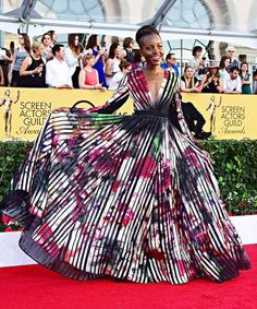 Lupita Nyong'o so bad that even though she wasn't in the Miss Universe pageant last night, she still won best dressed.