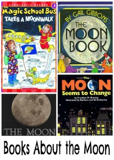 Books for learning about the moon | thissweetlifeofmine.com