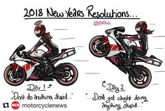 all jokes aside! Ride safe  Picture credit: @r1liz  .  .  .  #motorbike #2018 #newyear #resolution #instagood #instadaily #jokes #newyearsresolution #motorbikes #motorcycle #motorcycles #r1 smcbikes.com 01142525454