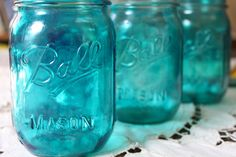 Easy to follow instructions for painting glass jars using Pebeo Vitrea glass paint