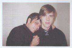 Paul Banks and Sam Fogarino of Interpol in Dallas, tour polaroids 2002.>> babies