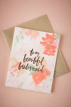 BHLDN Beautiful Bridal Party Cards in  Bridesmaids Bridesmaid Gifts at BHLDN