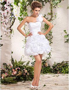 elegantes vestidos cortos de novia3