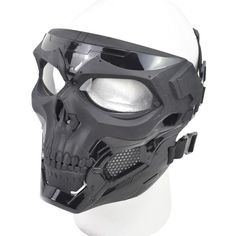 Maschera di teschio tattico 🔥myalleshop Airsoft, Masquerade, Master Chief, Helmet, Skull, Cosplay, Products, Fiber, Hockey Helmet