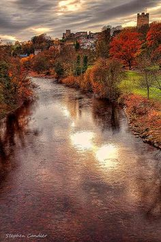 Along the River Swale, Richmond, North Yorkshire, England. Mam and Dad used to enjoy weekends in Richmond.