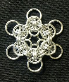Celtic Wings Flower by Ironband #Maille #Pendant