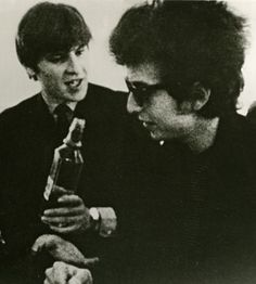 Dylan with Alan Price of the Animals in Don't Look Back.