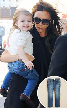 Victoria Beckham's daughter, Harper, steps out in skinny jeans. So cute!