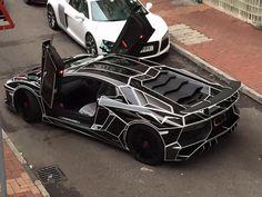 Tron Style Lamborghini Aventador SV by Impressive Wrap