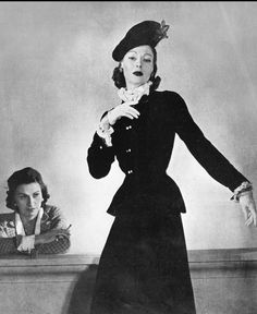 1938 Chanel with model Muriel Maxwell wearing her design, Paris, 1938, photo by Horst