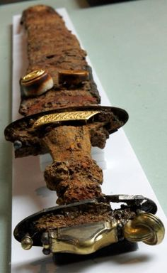Rune Sword (ALU). The 5th century, found  at St-Dizier, the grave 11. The Municipal Museum of Saint-Dizier, France.