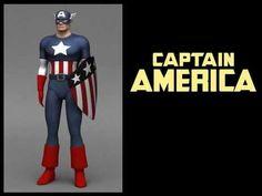 CAPTAIN AMERICA - original uniform