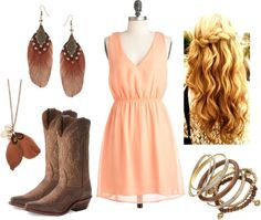 """""""Georgia Peach"""" by qtpiekelso on Polyvore"""