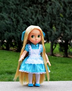 Alice In Wonderland Dress - Outfit for Disney Animator doll 16 inch doll