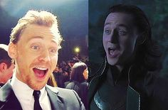 So freaking cute! I love when they have the exact same expressions and you can really see the Loki showing through Tom, or vice versa. :)