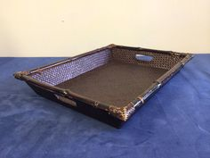 Vintage rattan and bamboo tray w handles on Etsy, $15.00