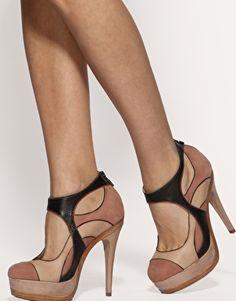 One word...FAB-U-LOUS! ASOS Black Blush Leather Platform Shoe