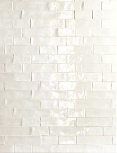Elida Ceramica Hand Crafted White Subway Ceramic Wall Tile