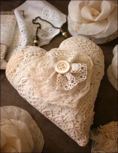 must make some of these with old doilies etc.