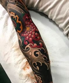 Japanese tattoo sleeve by @arturholykoi