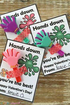 Sticky Hand Printable Class Valentine