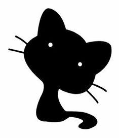 silueta negra de gato
